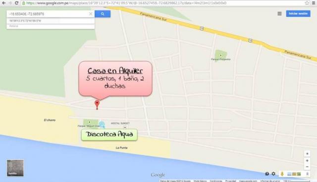 Alquiler de amplia casa en La Punta Camaná
